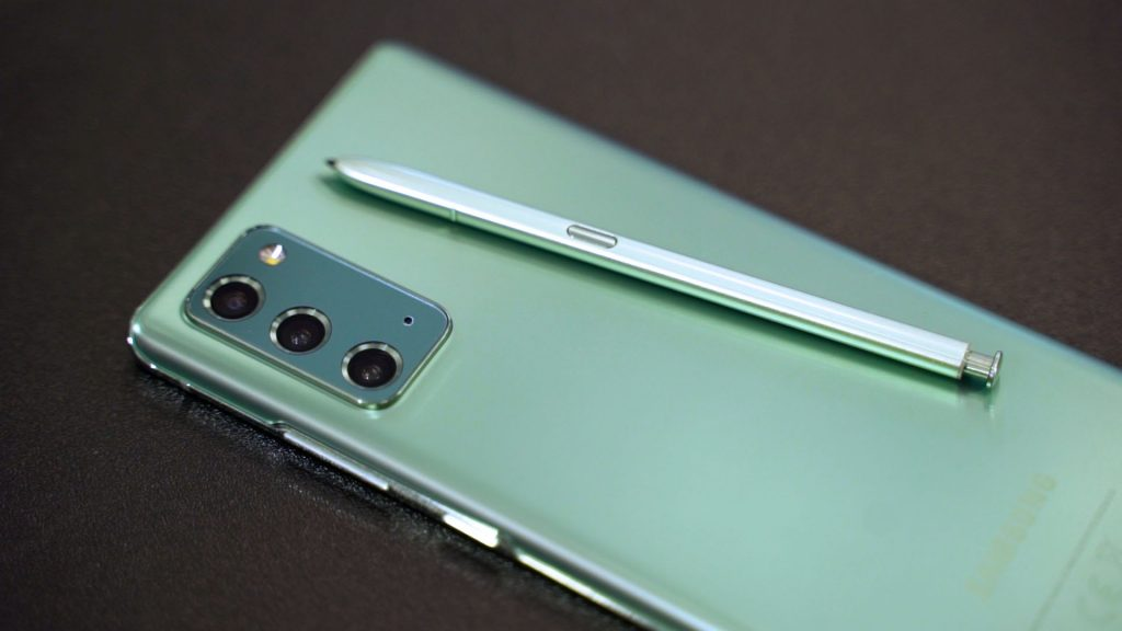 A green screen problem appeared on the Galaxy Note 20 Ultra