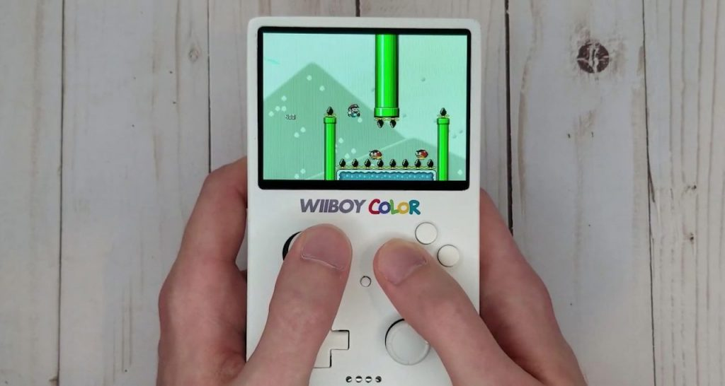 Heres the Wii Boy Color in Nintendo Game Boy size