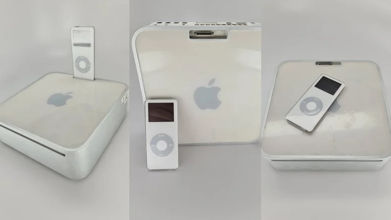 The 15 year old Mac Mini prototype appeared which Apple has never released