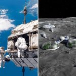 The radiation level on the moon has been announced