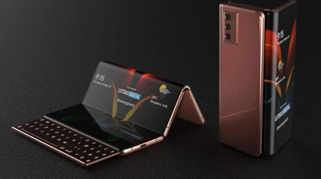 Design That Shows The Samsung Galaxy Z Fold 3 Could Have a Sliding Keyboard