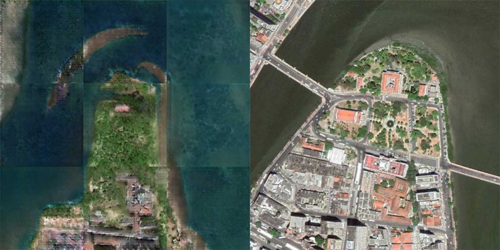 Old maps have been converted to satellite images 1