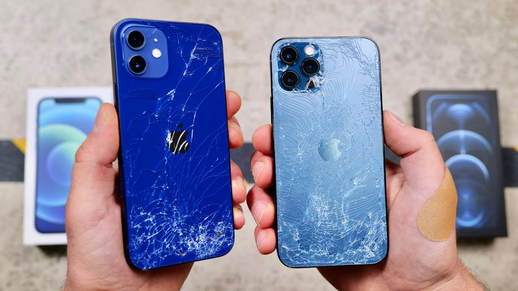 Praised for its durability iPhone 12s are in the drop test