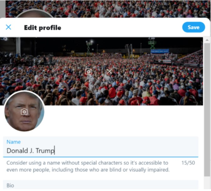 The allegation that Donald Trumps Twitter account was hacked 1