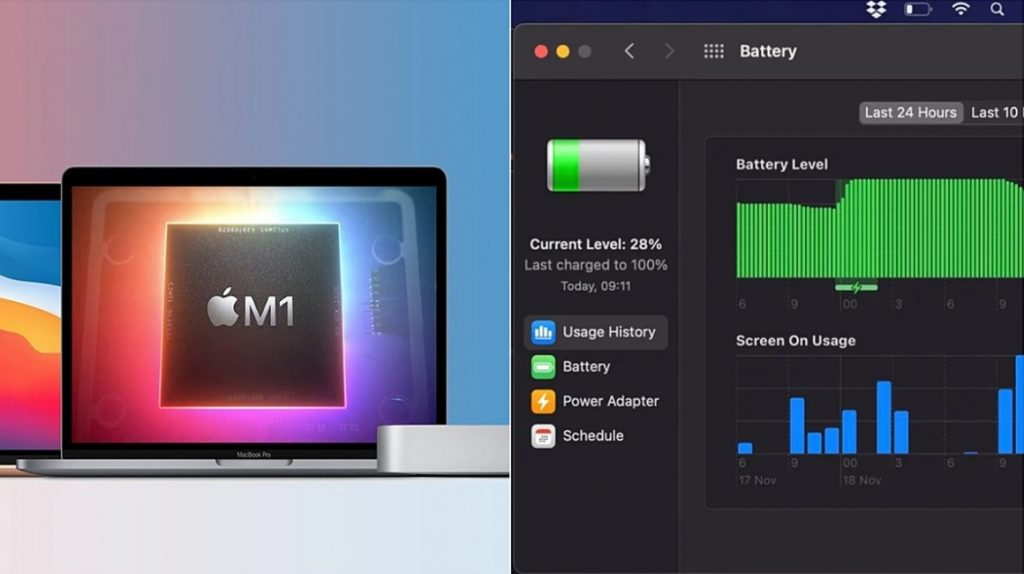 Apple M1 MacBook Air in Battery Test with Zoom