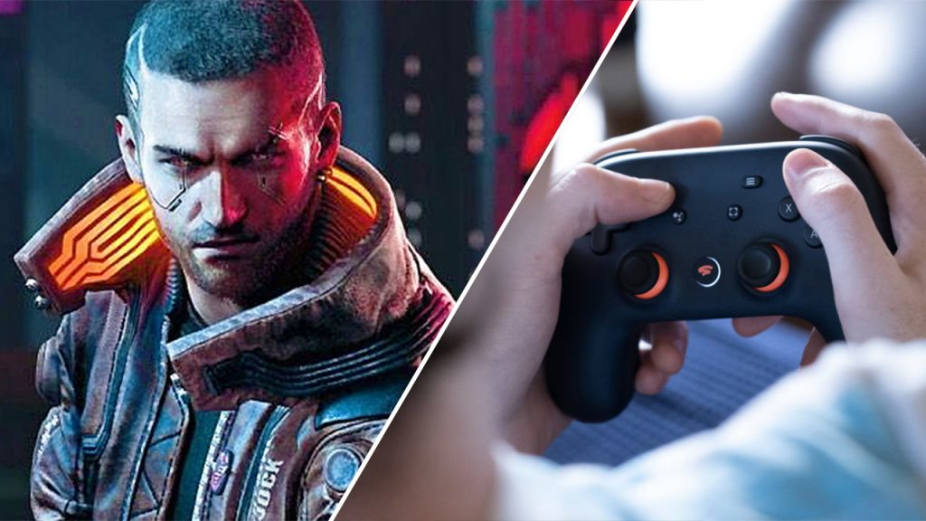 Cyberpunk 2077 video running at Stadia released