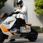 Electric scooter with different design from BMW