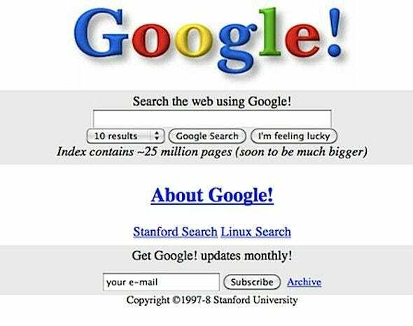 Experience the 1998 version of Google with Simple Search 1