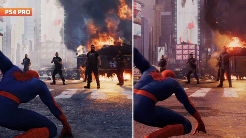 How different are Marvels Spider Man graphics on PS5
