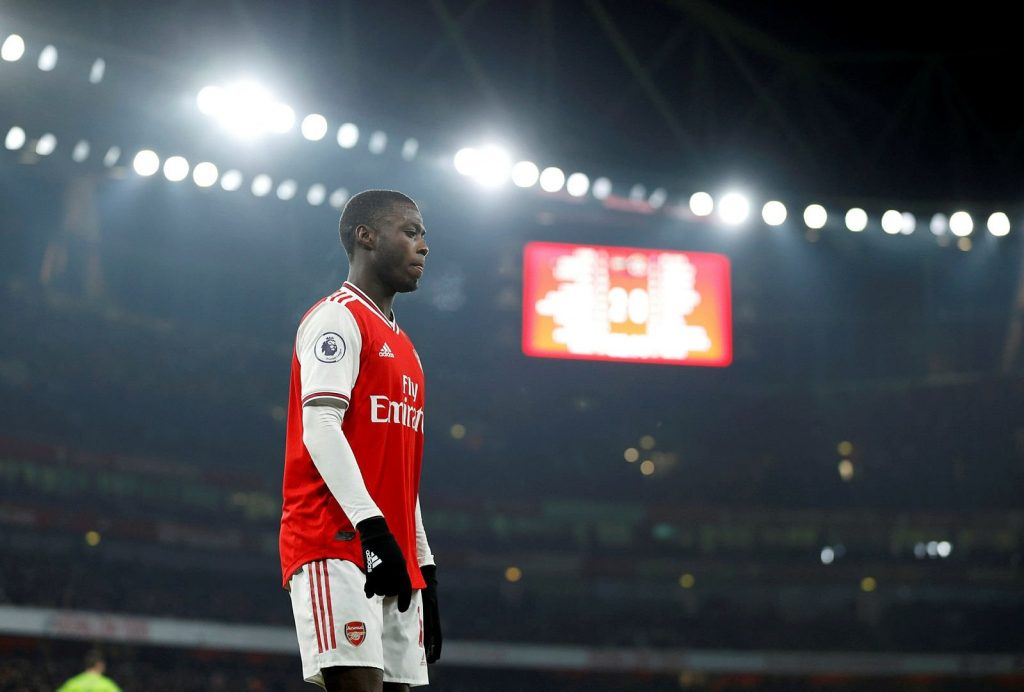 Nicolas Pepe who transferred to Arsenal from Lille in 2019 scored 11 goals in 54 matches.