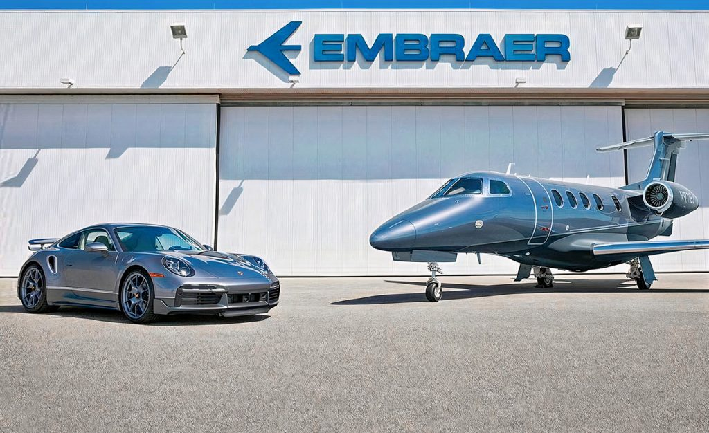 Porsche x Embraer Limited Edition 'Duet Package Gets You a Matching Private Jet and Car