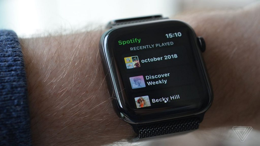 Spotify streaming support for Apple Watch