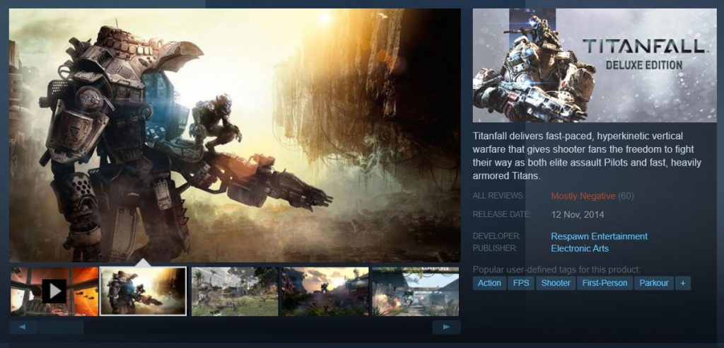 Titanfall 1 Arrives On Steam 1