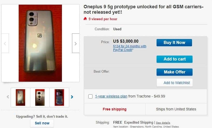 OnePlus 9 prototype dropped on the black market here is the price 1