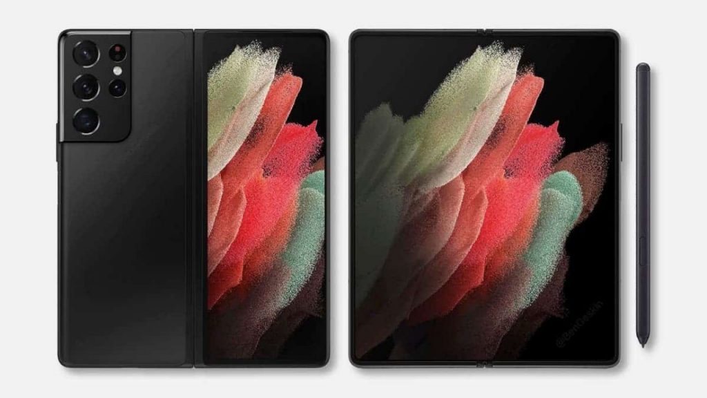 New Render Images Revealing Design of Samsung Galaxy Z Fold 3 Shared
