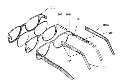 New patent from Xiaomi Smart glasses 1