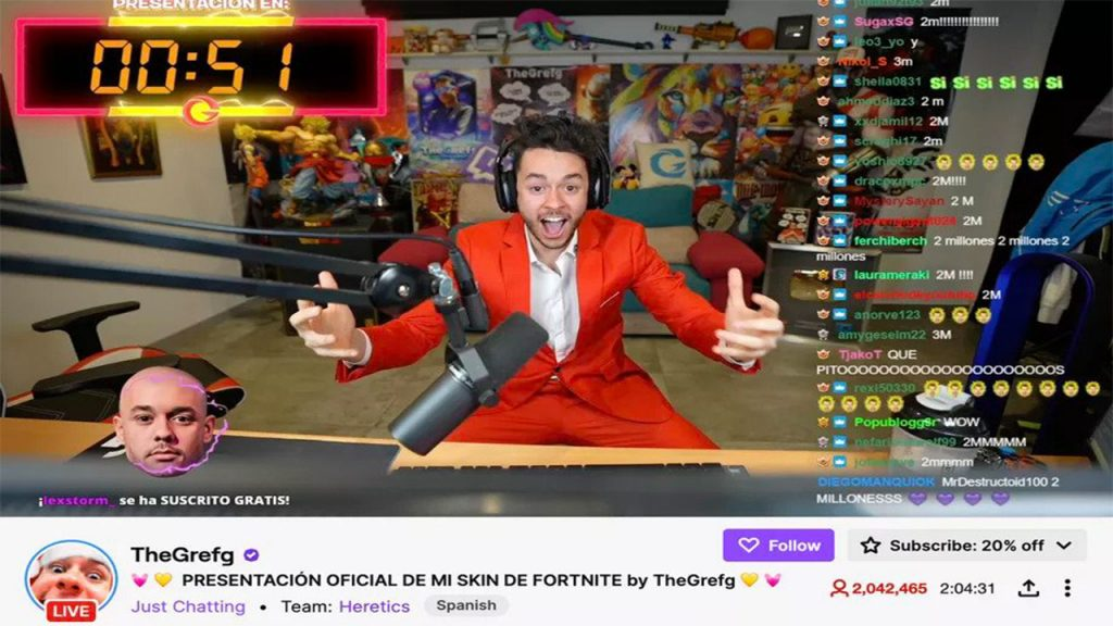 Record breaking broadcast on Twitch from a Fortnite player 1