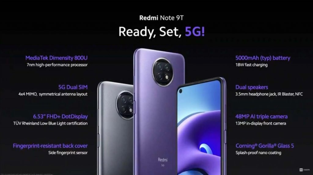 Redmi Note 9T introduced here are the specs and price 1