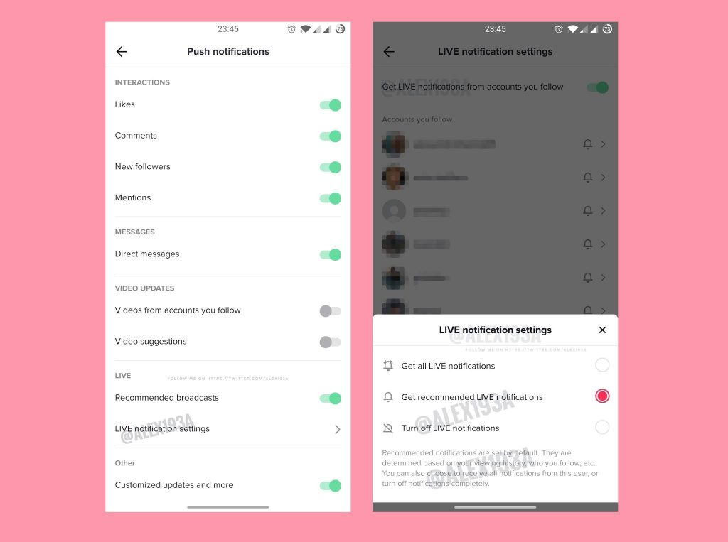 TikTok tests a new feature