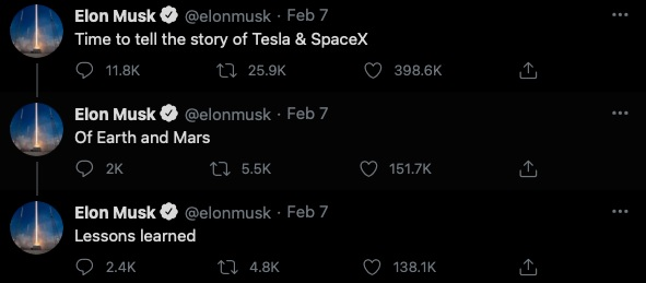 Elon Musk to write story of Tesla and SpaceX 1