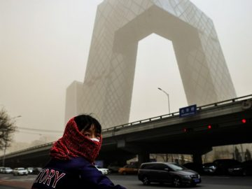 Biggest sandstorm in 10 years in Beijing Capital of China 1