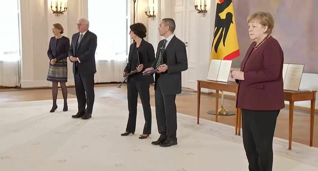 BioNTech founders Ugur Sahin and Ozlem Tureci were awarded the Order of Merit in Germany 1