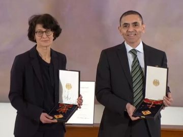 BioNTech founders Ugur Sahin and Ozlem Tureci were awarded the Order of Merit in Germany