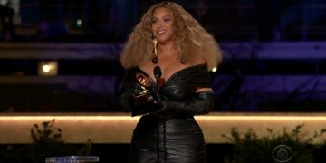 Grammy Awards winners Beyonce made its mark on the night
