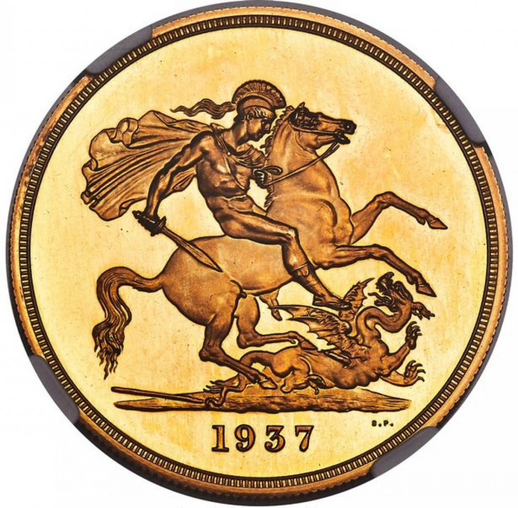 King Of England 8. The gold coin printed in Edwards name sold for a record price 2