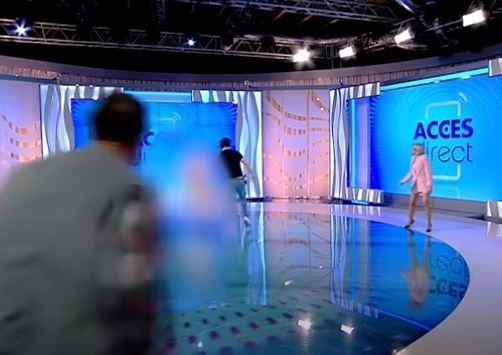 Naked woman shock on live broadcast 4