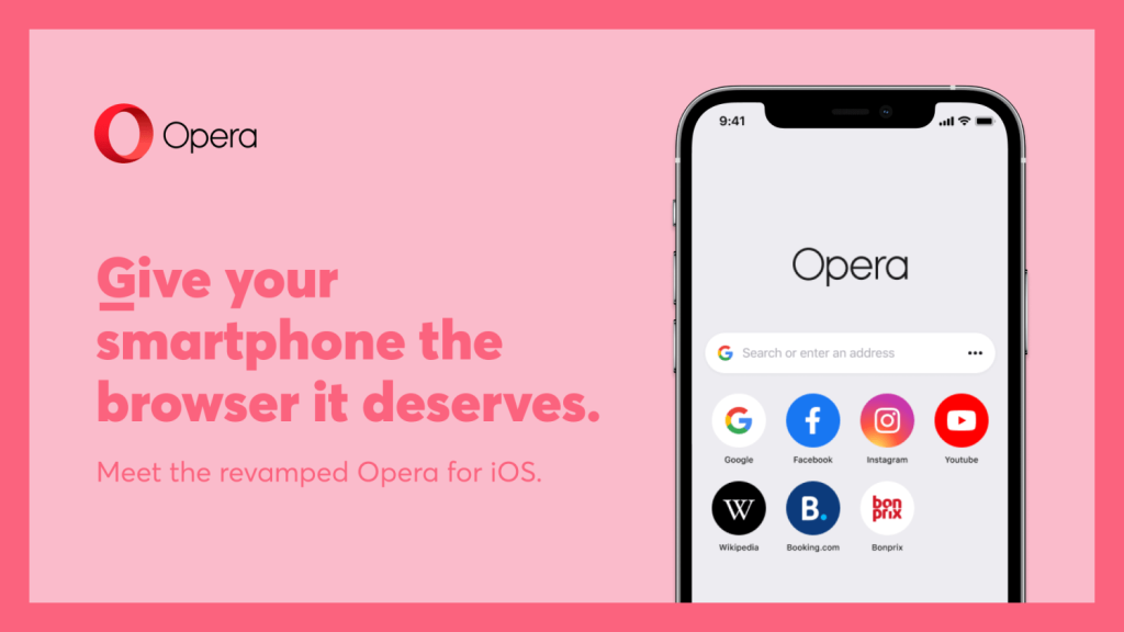 Operas iOS app has been refreshed Its name and vision have changed