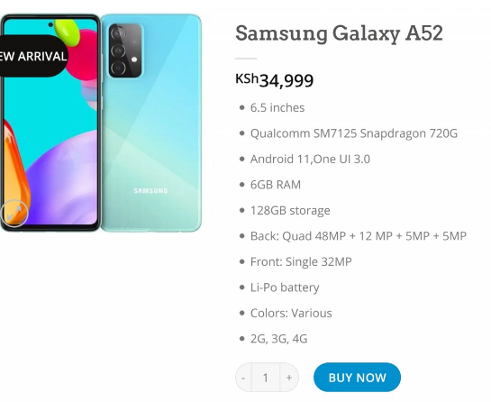 Samsung Galaxy A52 specs and price revealed 1