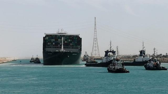 Ship stranded in Suez Canal rescued