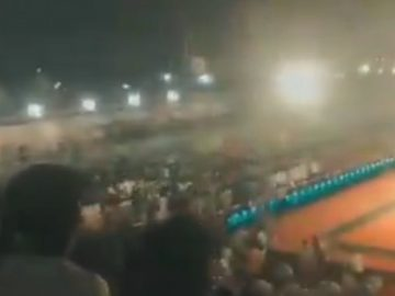 The grandstand collapsed during the game More than 100 injured