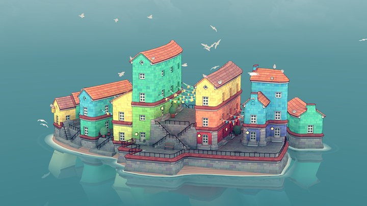 Townscaper the city building game is coming to mobile devices