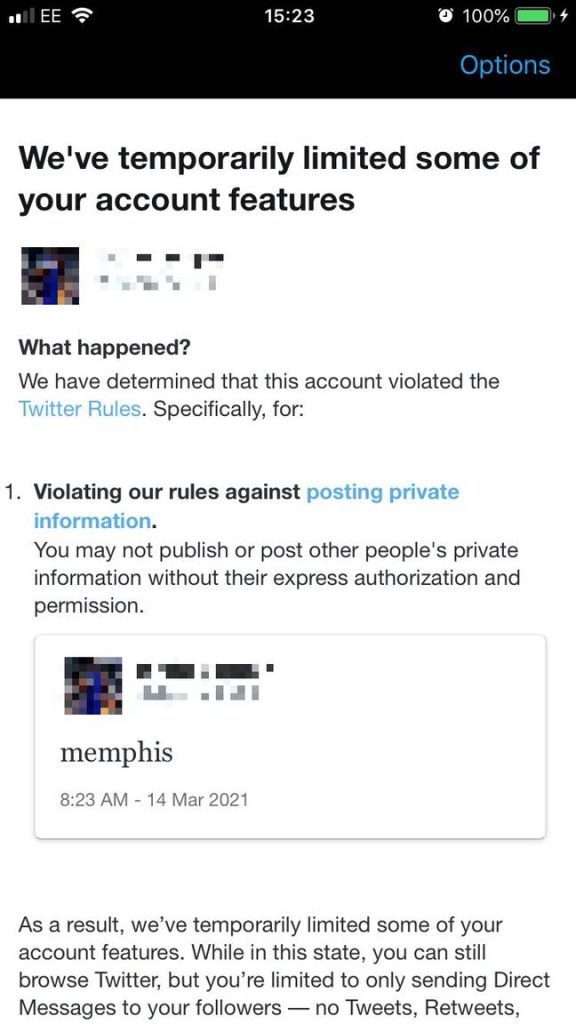 Twitter bans profiles that use the word Memphis 1