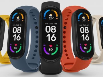 Xiaomi Mi Band 6 a smart wristband with NFC was introduced