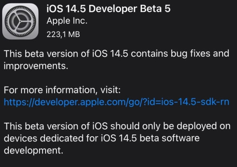 iOS 14.5 Beta 5 is out iPhone is now more capable 1