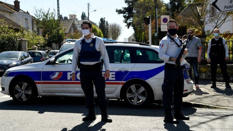France Female police officer stabbed to death