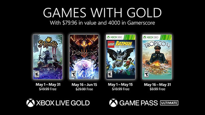 Free games for Xbox Live Gold members in May have been announced