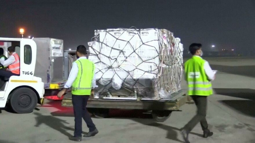 Medical assistance from the UK Germany and France to India