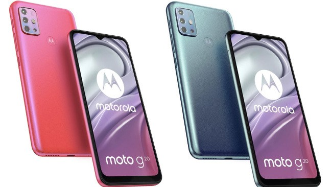 Moto G20 introduced at a price of 150 euros