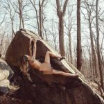 Naked rock climbing by 37 year old American woman working at a casino