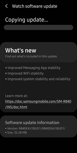 Samsung has updated the software of both the old Galaxy Watch and the new Galaxy Watch 3 1
