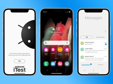 Samsung turns iPhones into Android iTest