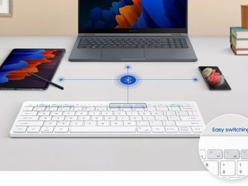 Samsungs new wireless keyboard that can connect to three devices at the same time has been revealed
