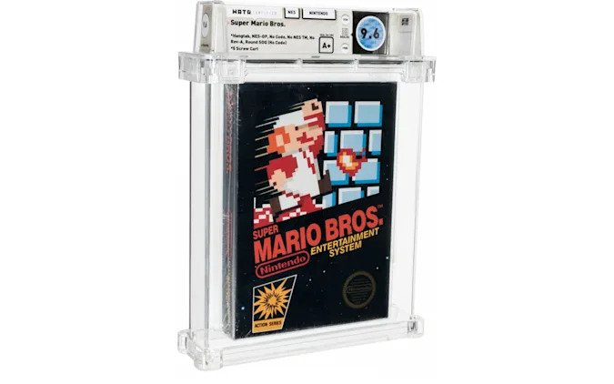 Super Mario Bros. game was sold at a record price 1