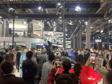 Tesla owner confuses Shanghai auto show