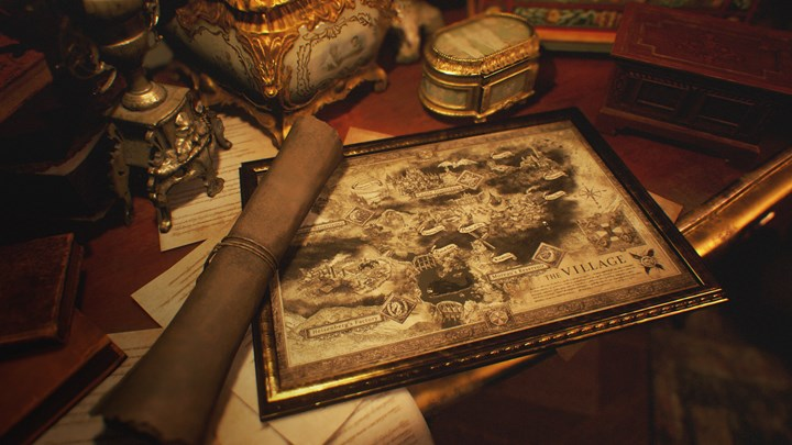 The PS5 version of Resident Evil Village will have performance and graphics modes map of the game shared 1