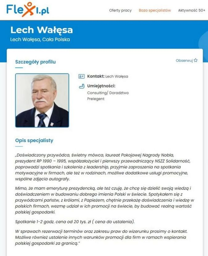 The former Polish President is looking for a job 1